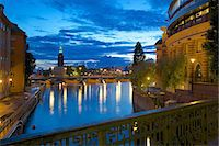 stockholm - The City Hall at night, Kungsholmen, Stockholm, Sweden, Scandinavia, Europe Stock Photo - Premium Rights-Managednull, Code: 841-06502841