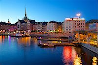 stockholm - Gamla Stan at dusk, Riddarholmen, Stockholm, Sweden, Scandinavia, Europe Stock Photo - Premium Rights-Managednull, Code: 841-06502882