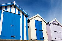 Beach huts at Felixstowe, Suffolk, England, United Kingdom, Europe Stock Photo - Premium Rights-Managednull, Code: 841-06503017