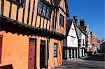 Half timbered buildings on Silent Street, Ipswich, Suffolk, England, United Kingdom, Europe Stock Photo - Premium Rights-Managed, Artist: Robert Harding Images, Code: 841-06503029