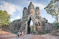 North Gate, Angkor Thom, Angkor, UNESCO World Heritage Site, Siem Reap, Cambodia, Indochina, Southeast Asia, Asia Stock Photo - Premium Rights-Managednull, Code: 841-06503412