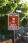 Quiet zone no cell phone neighborhood sign Stock Photo - Premium Royalty-Freenull, Code: 618-06504204