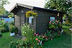 Small Wooden Garden House Surrounded by Blooming Flowers, Bavaria, Germany, Europe Stock Photo - Premium Rights-Managed, Artist: David & Micha Sheldon, Code: 700-06505725