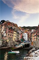 Clifftop village of Riomaggiore at dawn, Cinque Terre National Park, UNESCO World Heritage Site, Liguria, Italy Stock Photo - Premium Rights-Managednull, Code: 700-06512719