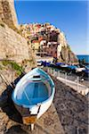 Fishing boat on shore by harbour of Manarola, Cinque Terre National Park, UNESCO World Heritage Site, Liguria, Italy Stock Photo - Premium Rights-Managed, Artist: F. Lukasseck, Code: 700-06512753