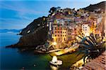Clifftop village of Riomaggiore at dawn, Cinque Terre National Park, UNESCO World Heritage Site, Liguria, Italy Stock Photo - Premium Rights-Managed, Artist: F. Lukasseck, Code: 700-06512755