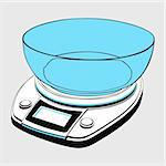 Kitchen scales with bowl Stock Photo - Royalty-Free, Artist: Denis_Barbulat                , Code: 400-06513006