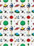 seamless space pattern   Stock Photo - Royalty-Free, Artist: notkoo2008                    , Code: 400-06514543