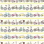 seamless bicycle pattern   Stock Photo - Royalty-Free, Artist: notkoo2008                    , Code: 400-06514549