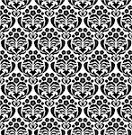 Damask seamless vector pattern.  For easy making seamless pattern just drag all group into swatches bar, and use it for filling any contours. Stock Photo - Royalty-Free, Artist: angelp                        , Code: 400-06514735