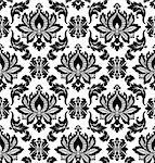 Vector. Seamless damask pattern Stock Photo - Royalty-Free, Artist: gromaler                      , Code: 400-06514933