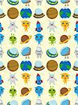 seamless space pattern,cartoon vector illustration Stock Photo - Royalty-Free, Artist: notkoo2008                    , Code: 400-06515412