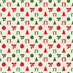Retro Christmas pattern in editable vector format Stock Photo - Royalty-Free, Artist: archymeder                    , Code: 400-06516482