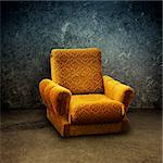 Old yellow armchair in a grungy, dirty interior Stock Photo - Royalty-Free, Artist: stevanovicigor                , Code: 400-06518671