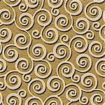 abstract flourish floral swirl seamless background pattern Stock Photo - Royalty-Free, Artist: 100ker                        , Code: 400-06519119