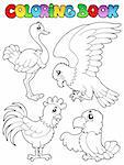 Coloring book bird image 1 - vector illustration. Stock Photo - Royalty-Free, Artist: clairev                       , Code: 400-06519471