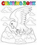Coloring book bird image 2 - vector illustration. Stock Photo - Royalty-Free, Artist: clairev                       , Code: 400-06519472
