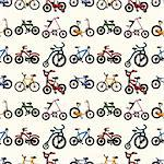 seamless bicycle pattern,cartoon vector illustration Stock Photo - Royalty-Free, Artist: notkoo2008                    , Code: 400-06520035