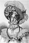 Maria Amalia of Naples and Sicily (1782-1866) on engraving from 1859. Queen of the French during1830??1848. Engraved by Nordheim and published in Meyers Konversations-Lexikon, Germany,1859. Stock Photo - Royalty-Free, Artist: Georgios                      , Code: 400-06520296