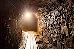 Mine tunnel with path - historical gold, silver, copper mine Stock Photo - Royalty-Free, Artist: tomas1111                     , Code: 400-06520417