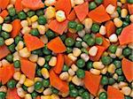 close up of mixed vegetable salad food background Stock Photo - Royalty-Free, Artist: zkruger                       , Code: 400-06521646