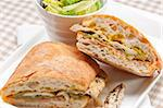 traditional Italian ciabatta panini sandwich chicken vegetables and aioli Stock Photo - Royalty-Free, Artist: keko64                        , Code: 400-06522365