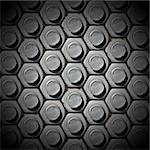 Metallic grunge background with bolts heads Stock Photo - Royalty-Free, Artist: catalby                       , Code: 400-06522799