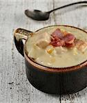 Cup Of Corn Chowder With Bacon Stock Photo - Royalty-Free, Artist: svetlanna                     , Code: 400-06523373