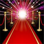 Red carpet with guard. Clipping Mask. Mesh.This file contains transparency.EPS10 Stock Photo - Royalty-Free, Artist: Lep                           , Code: 400-06524196