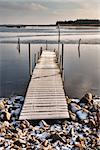 Pier in frosty air and cold water, Nyborg, Denmark Stock Photo - Royalty-Free, Artist: frankix                       , Code: 400-06524227