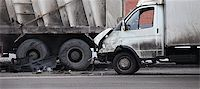 collision of the truck and car Stock Photo - Royalty-Freenull, Code: 400-06524355