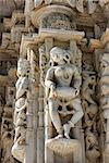 Ancient Sun Temple in Ranakpur. Jain Temple Carving.  Ranakpur, Rajasthan, Pali District, Udaipur, India. Asia. Stock Photo - Royalty-Free, Artist: photoff                       , Code: 400-06525238