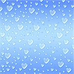 blue hearts like droplets over azure background Stock Photo - Royalty-Free, Artist: marinini                      , Code: 400-06526230