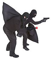 pair of two robbers on white background Stock Photo - Royalty-Freenull, Code: 400-06526616