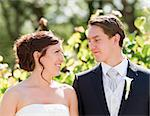 Bride and groom looking at each other on wedding ceremony Stock Photo - Royalty-Free, Artist: OLJensa                       , Code: 400-06527705