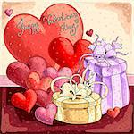 Valentines background, this illustration may be useful as designer work Stock Photo - Royalty-Free, Artist: Lady_Aqua                     , Code: 400-06530872