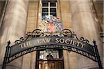 Crest and Sign Outside The Law Society, Chancery Lane, London, UK Stock Photo - Premium Rights-Managed, Artist: Matt Brasier, Code: 700-06531367
