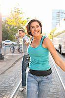 Couple Outdoors, Portland, Oregon, USA Stock Photo - Premium Royalty-Freenull, Code: 600-06531559