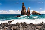 Rock formation on the Atlantic coast, Ribeira da Janela, Madeira, Portugal Stock Photo - Premium Rights-Managed, Artist: F. Lukasseck, Code: 700-06531507