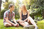 Young Couple in Park on a Summer Day, Portland, Oregon, USA Stock Photo - Premium Royalty-Free, Artist: Ty Milford, Code: 600-06531621