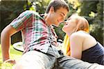 Young Couple in Park on a Summer Day, Portland, Oregon, USA Stock Photo - Premium Royalty-Free, Artist: Ty Milford, Code: 600-06531628
