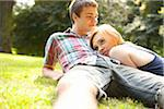 Young Couple in Park on a Summer Day, Portland, Oregon, USA Stock Photo - Premium Royalty-Free, Artist: Ty Milford, Code: 600-06531629