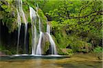 Waterfall cascading over green moss, Cascade des Tufs, Arbois, Jura, Jura Mountains, Franche-Comte, France Stock Photo - Premium Royalty-Free, Artist: Martin Ruegner, Code: 600-06531783