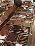 Assortment of chocolate truffles on display in candy shop, Le Bonbon Royal, Paris, France Stock Photo - Premium Rights-Managed, Artist: Michael Mahovlich, Code: 700-06531933