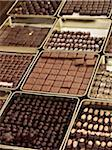 Assortment of chocolate truffles on display in candy shop, Le Bonbon Royal, Paris, France Stock Photo - Premium Rights-Managed, Artist: Michael Mahovlich, Code: 700-06531935