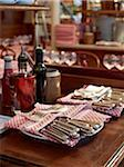 silverware, linens, and condiments on table inside French cafe, Fontaine de Mars, Paris, France Stock Photo - Premium Rights-Managed, Artist: Michael Mahovlich, Code: 700-06531973