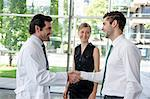 Doctor and businessman shaking hands Stock Photo - Premium Royalty-Free, Artist: Ikonica, Code: 649-06532616