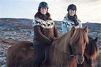 Women riding horses outdoors Stock Photo - Premium Royalty-Freenull, Code: 649-06533306