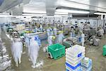 Blurred view of workers in factory Stock Photo - Premium Royalty-Free, Artist: Blend Images, Code: 649-06533414