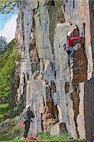 rock climber - Rock climbers scaling steep face Stock Photo - Premium Royalty-Freenull, Code: 649-06533541